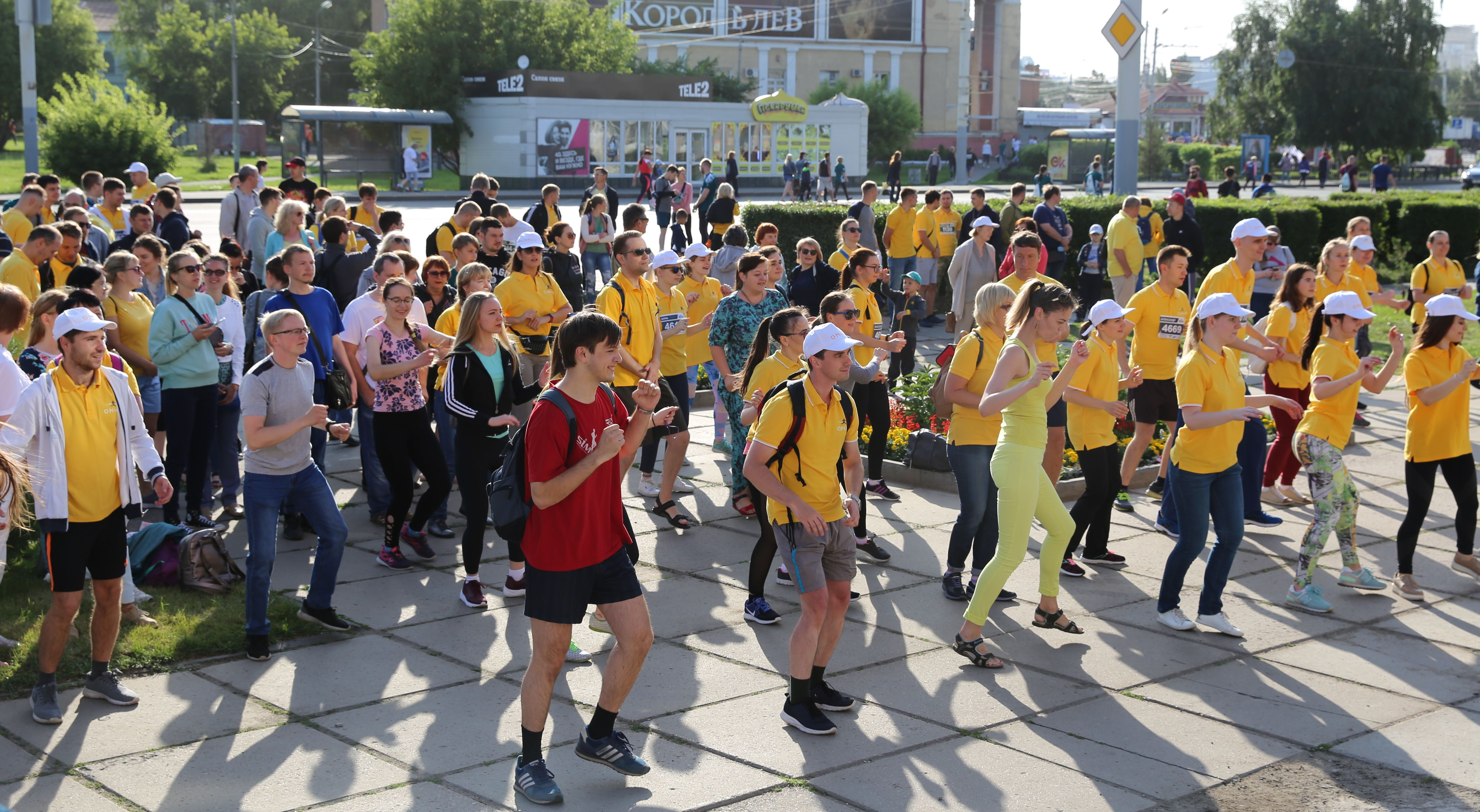 Флешмоб ONHP Сибирский международный марафон